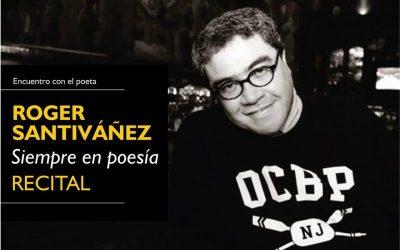 Recital de Roger Santiváñez esta noche en Casatomada Librería & Café